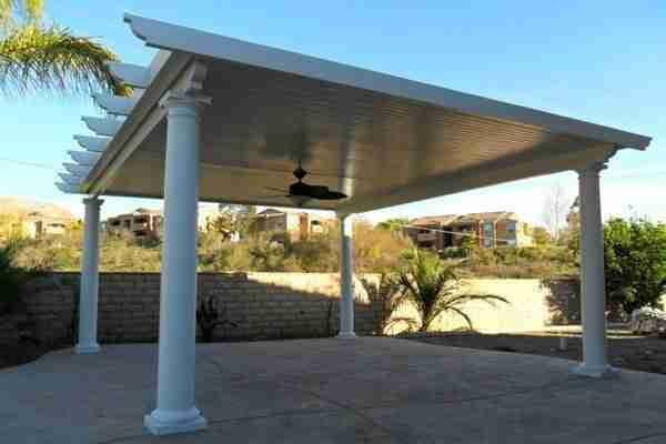detached solid roof pergola in san jose