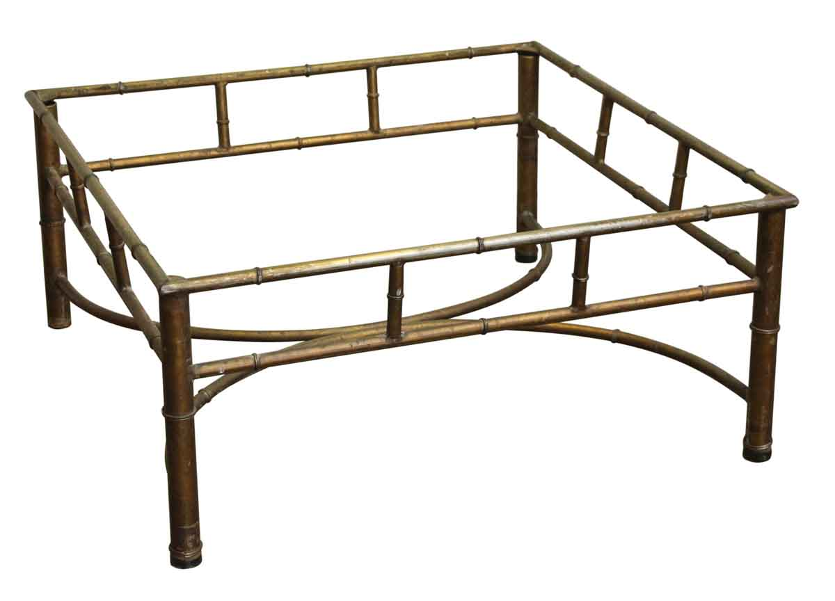 reclaimed metal square coffee table base