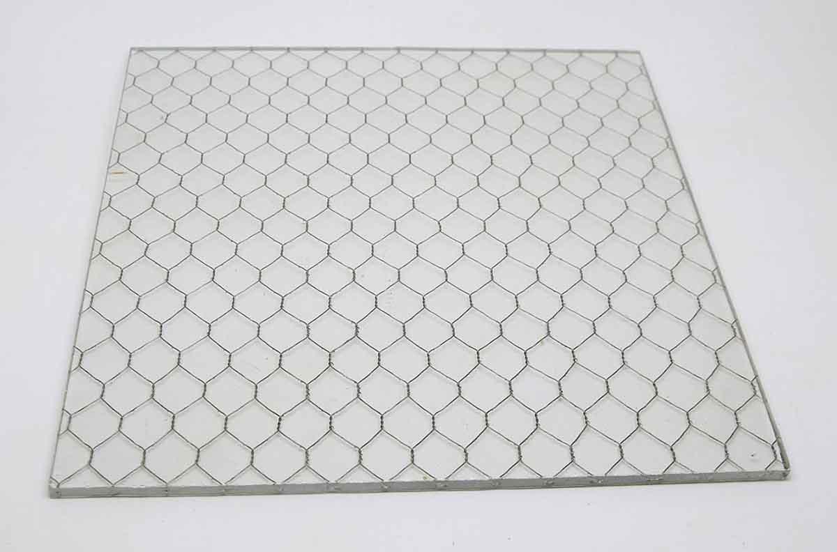 Clear Vintage Chicken Wire Glass