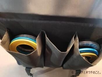 撮影ボックス「K40」本体のポケットに付属品が入っている様子