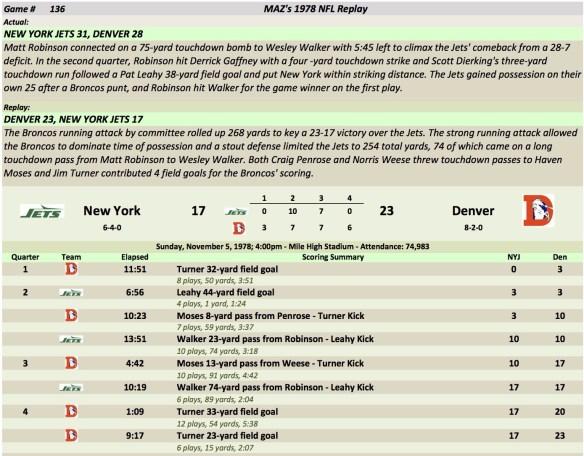 Game 136 NYJ at Den