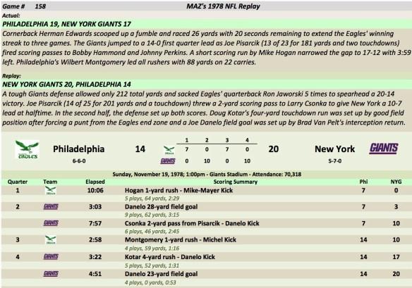 Game 158 Phi at NYG