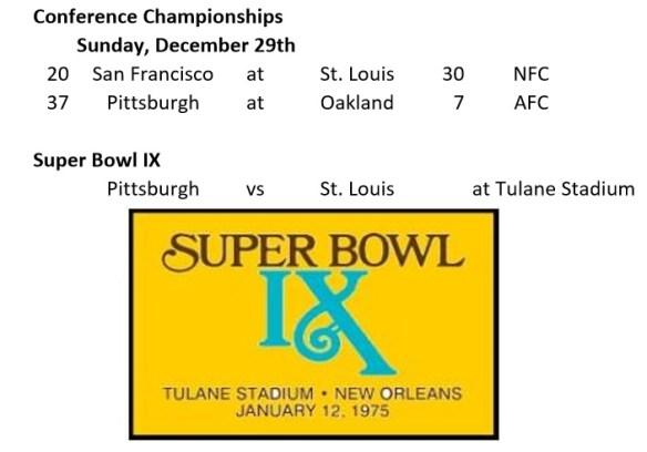 Super Bowl IX Promo