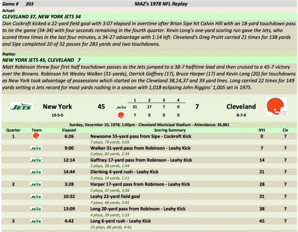 Game 203 NYJ at Cle