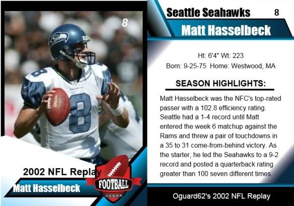 2002 - matt hasselbeck card