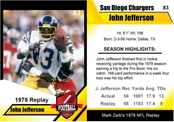1978 - John Jefferson Card