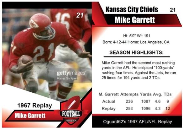1967 - Mike Garrett Card