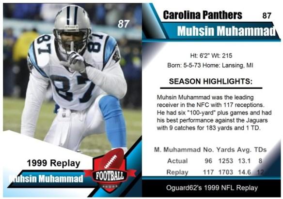 1999 - Muhsin Muhammad Card