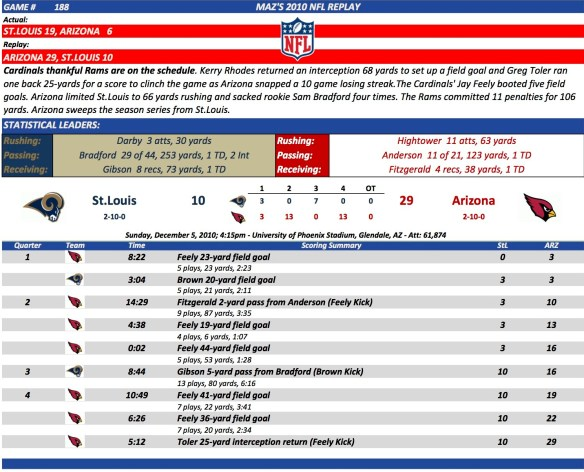 Game 188 StL at Arz