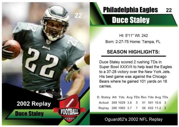 2002 - Duce Staley Card