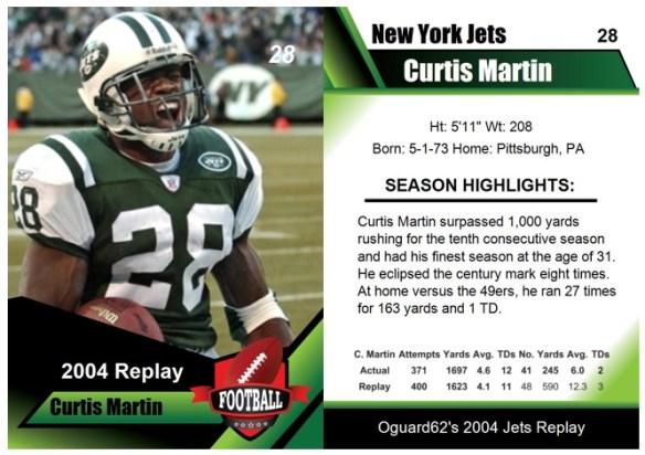 2004 - Curtis Martin Card