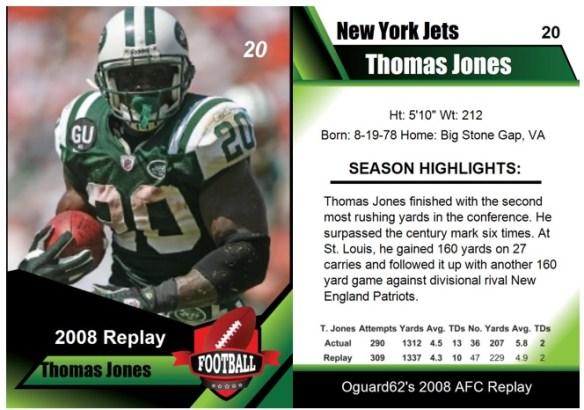 2008 - Thomas Jones Card