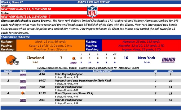 Game 47 CLE at NYG