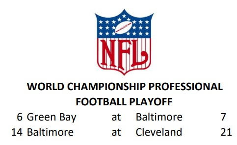 NFL Championship Results