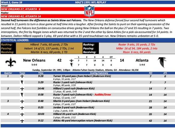 Game 58 NO at ATL