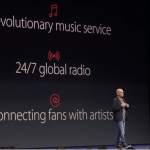 An Apple event introducing Apple Music