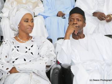 Nigeria Vice President Osibanjo with wife.
