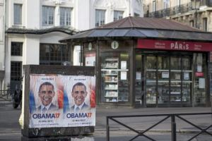 Posters of Obama for France Election 2017