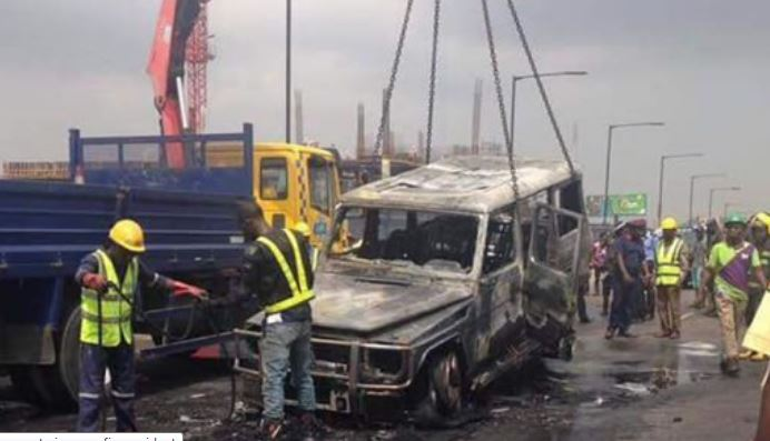 Fayose's Car in Mysterious Fire