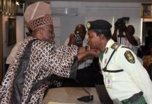 Trace officer and Amosun
