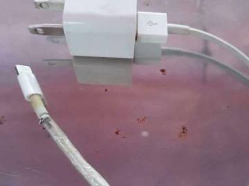 Peeled Iphone charger