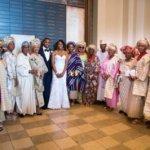 Mrs. Folake Wole-Soyinka with close family friends