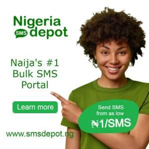 Nigeria SMS Depot ad banner