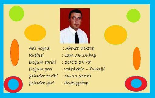 Şehit Ahmet Bektaş'ı Anıyoruz