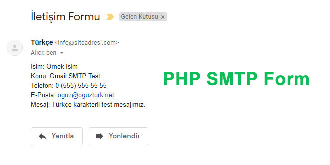 php smtp mail