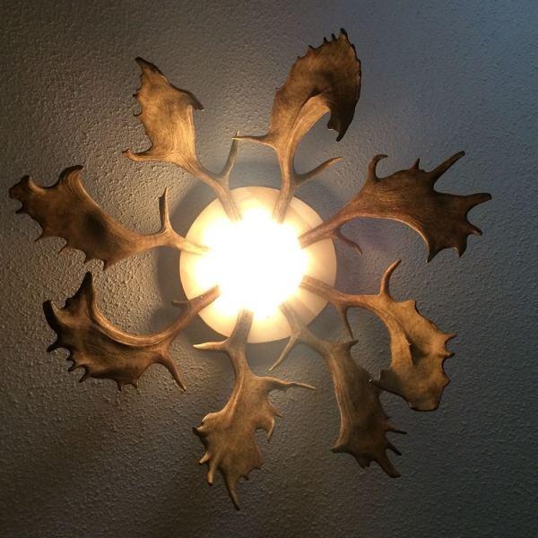 geweih deckenlampe, geweihlampe, lampe chalet, lampe rustikal