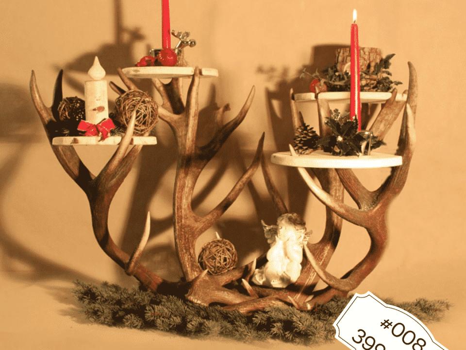 Hirschgeweih Dekoobjekt für jeden Anlass Weihnachtsdekoration oder Osterdekoration oder zum Präsentieren eines Buffets