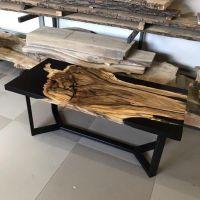 Epoxy Couchtisch Holz