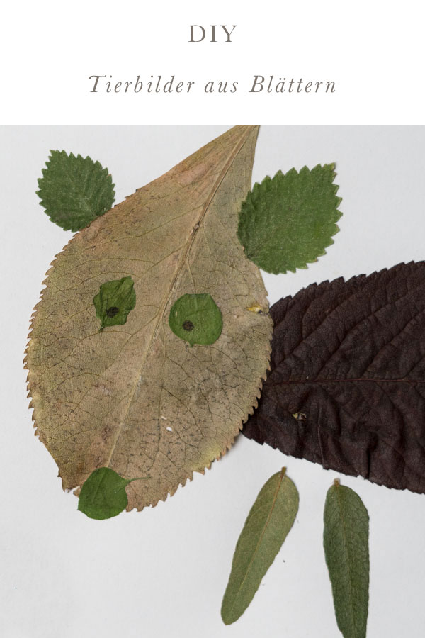 Basteln mit Blättern: Tierbilder