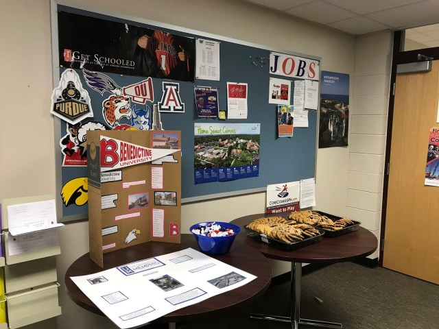 College Signing Day in Student Services
