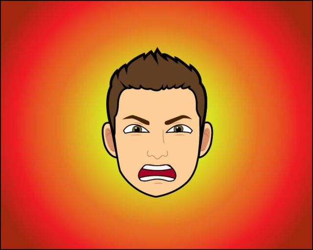 Dylan Jahnke's angry bitmoji face