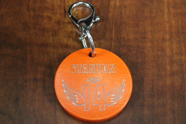 Stanton number 14 keychain front