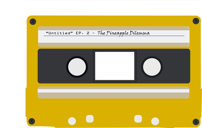 Untitled logo, a cassette tape