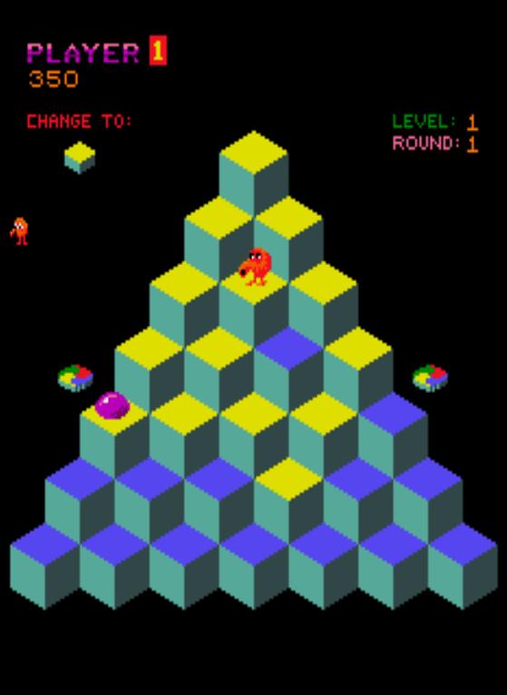 Q*bert gameplay screenshot