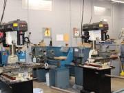 The empty metals classroom at OHS