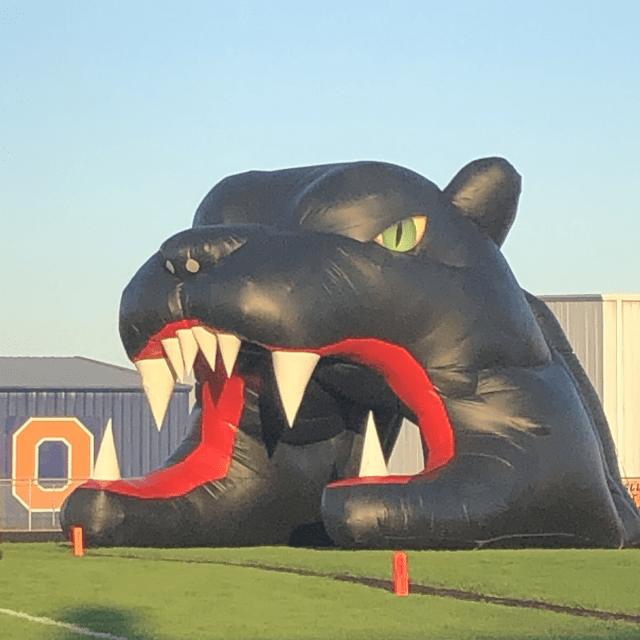inflatable panther mascot
