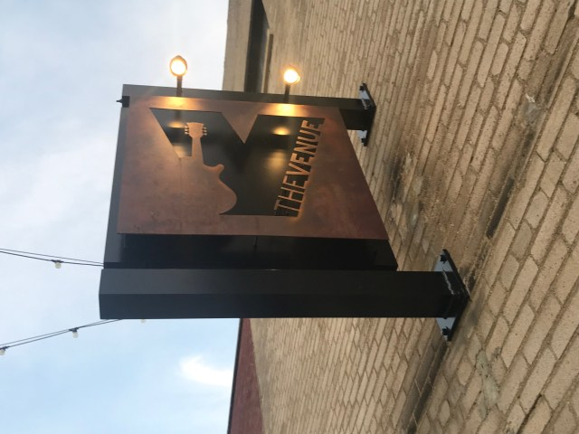 sign for The Venue