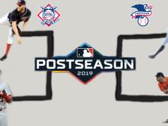 bracket showing the postseason MLB matchup