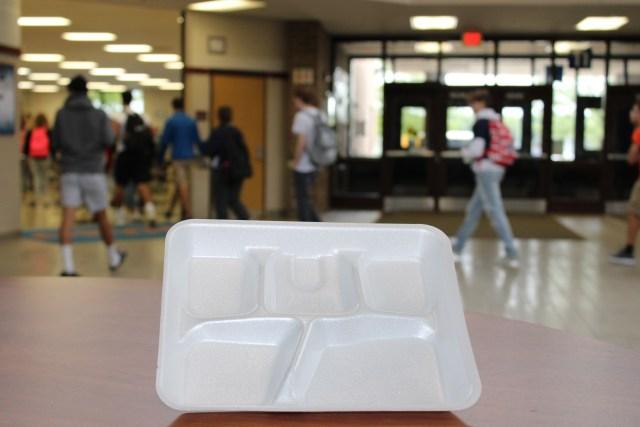 styrofoam lunch tray