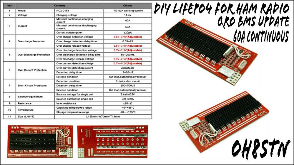 BesTech 50A 4S LiFePO4 BMS