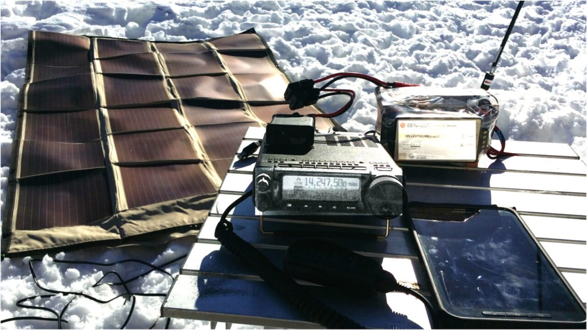 Portable Battery & Solar power for ham radio
