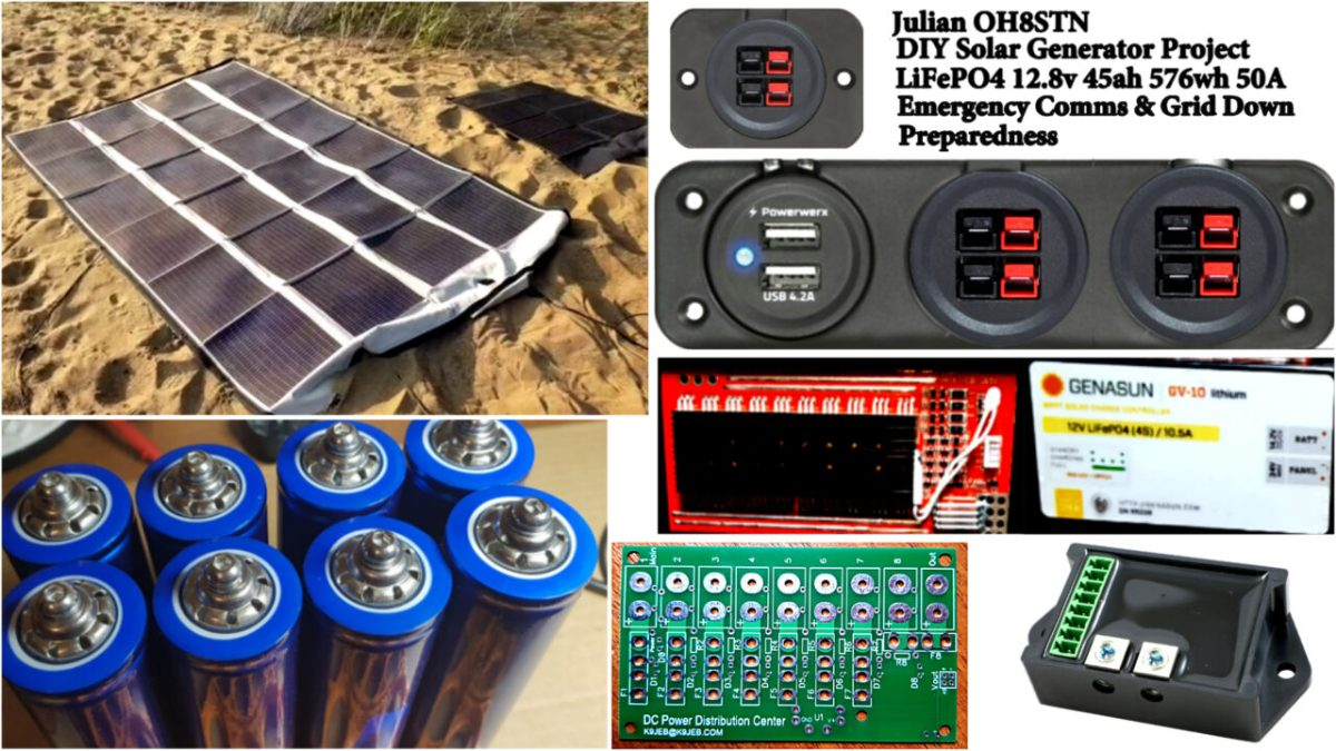 DIY 12v LiFePO4 Solar Generator build notes