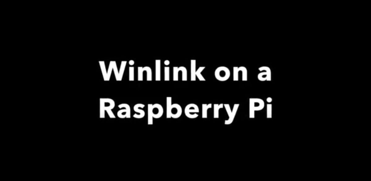 Winlink on a Raspberry Pi