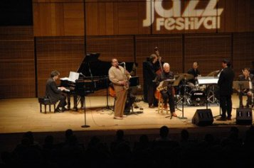Conducting Joe Lovano, Lee Konitz and OJM