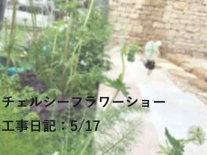 チェルシーフラワーショー工事12日目(5/17)の回想日記