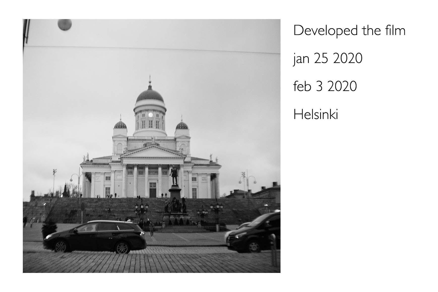 ヘルシンキで撮影したフィルムを現像した